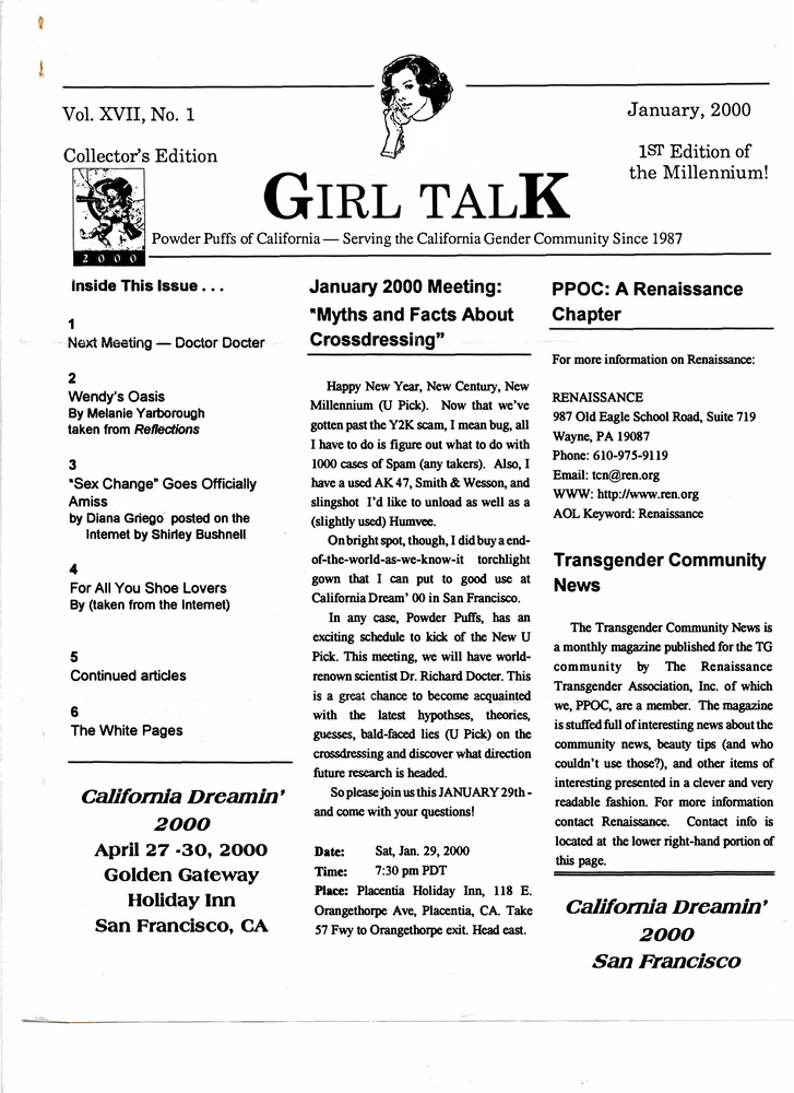 Download the full-sized PDF of Girl Talk, Vol. 17 No. 1 (January, 2000)