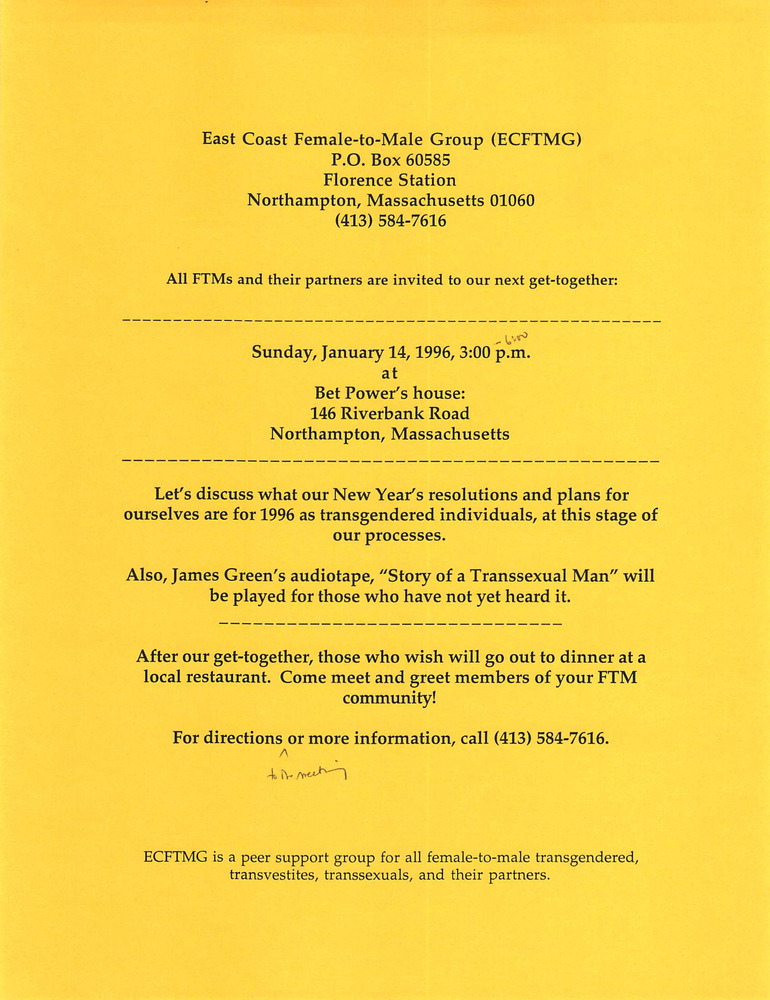 Download the full-sized PDF of January, 1996 Meeting Reminder