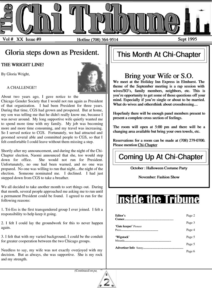 Download the full-sized PDF of The Chi Tribune Vol. 20 Iss. 9 (September, 1995)