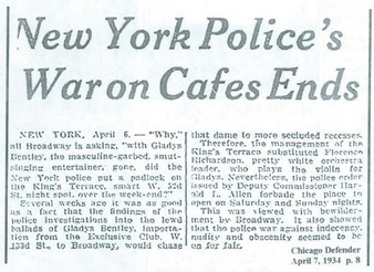 New York Police's War on Cafes Ends