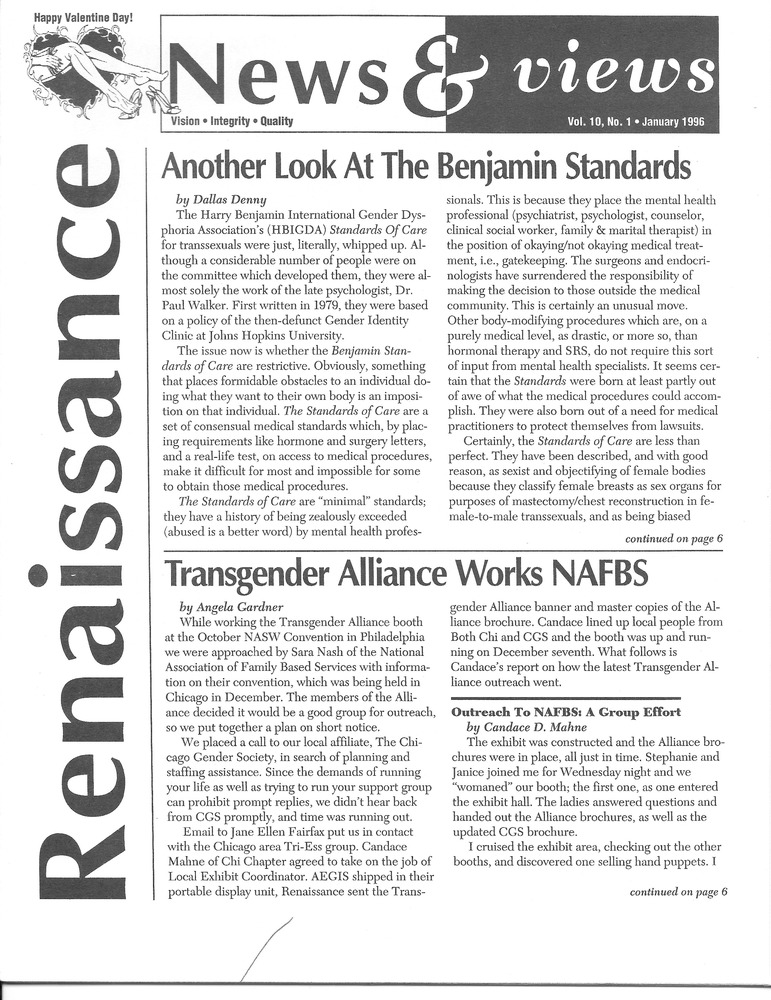 Download the full-sized PDF of Renaissance News & Views Vol. 10, No. 1 (January, 1996)