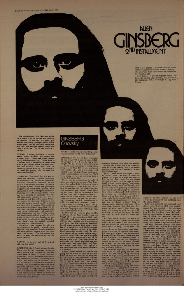 Download the full-sized image of Allen Ginsberg 2nd Installment