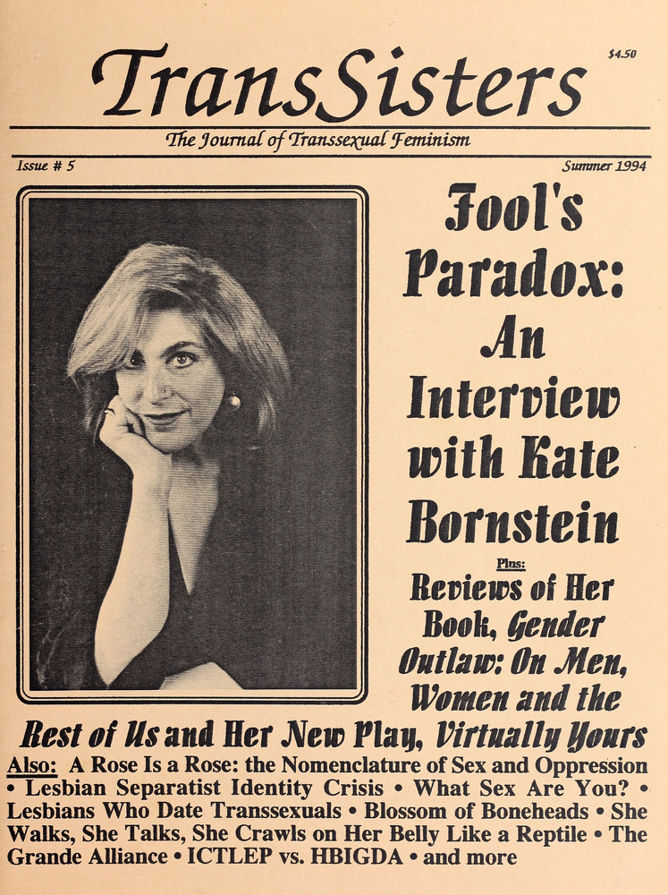Download the full-sized image of TransSisters: The Journal of Transsexual Feminism No. 5 (Summer 1994)