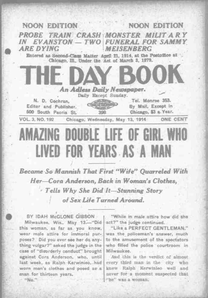 Download the full-sized PDF of Amazing Double Life of Girl Who Lived for Years as a Man