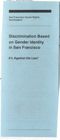 Download the full-sized PDF of Discrimination Based on Gender Identity in San Francisco