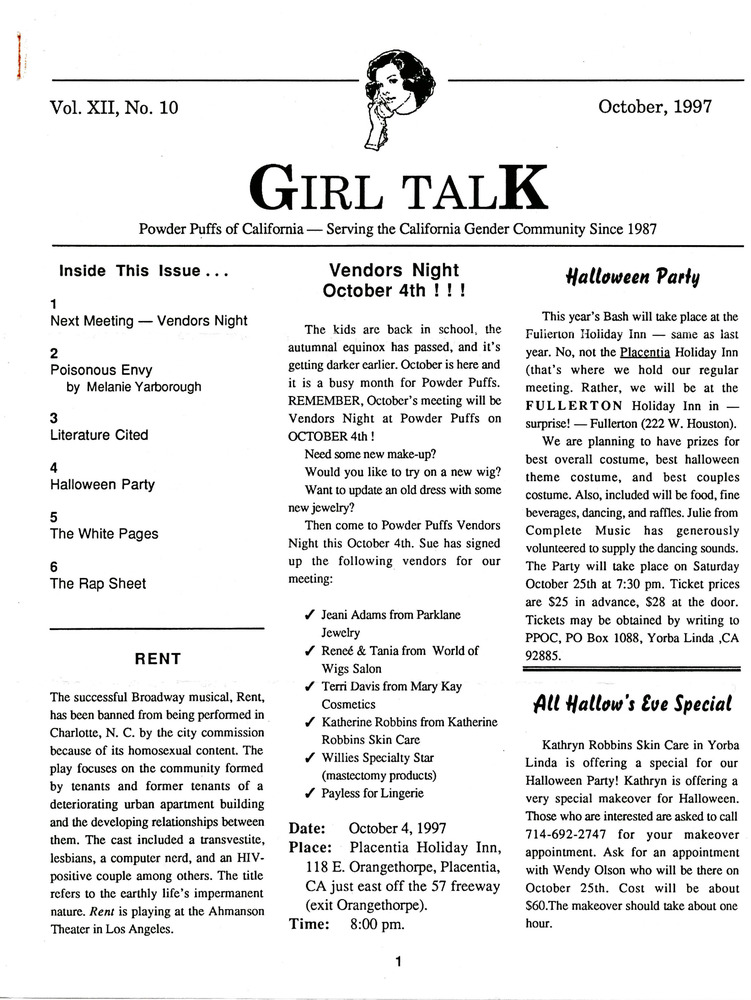 Download the full-sized PDF of Girl Talk, Vol. 12 No. 11 (October, 1997)
