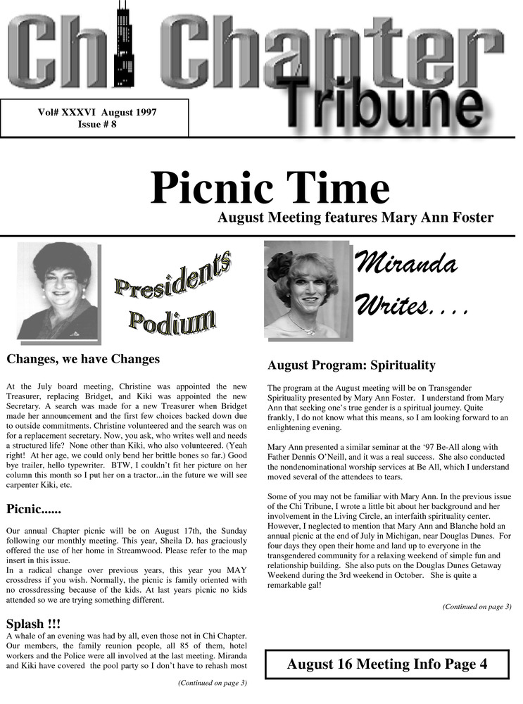 Download the full-sized PDF of Chi Chapter Tribune Vol. 36 Iss. 08 (August, 1997)
