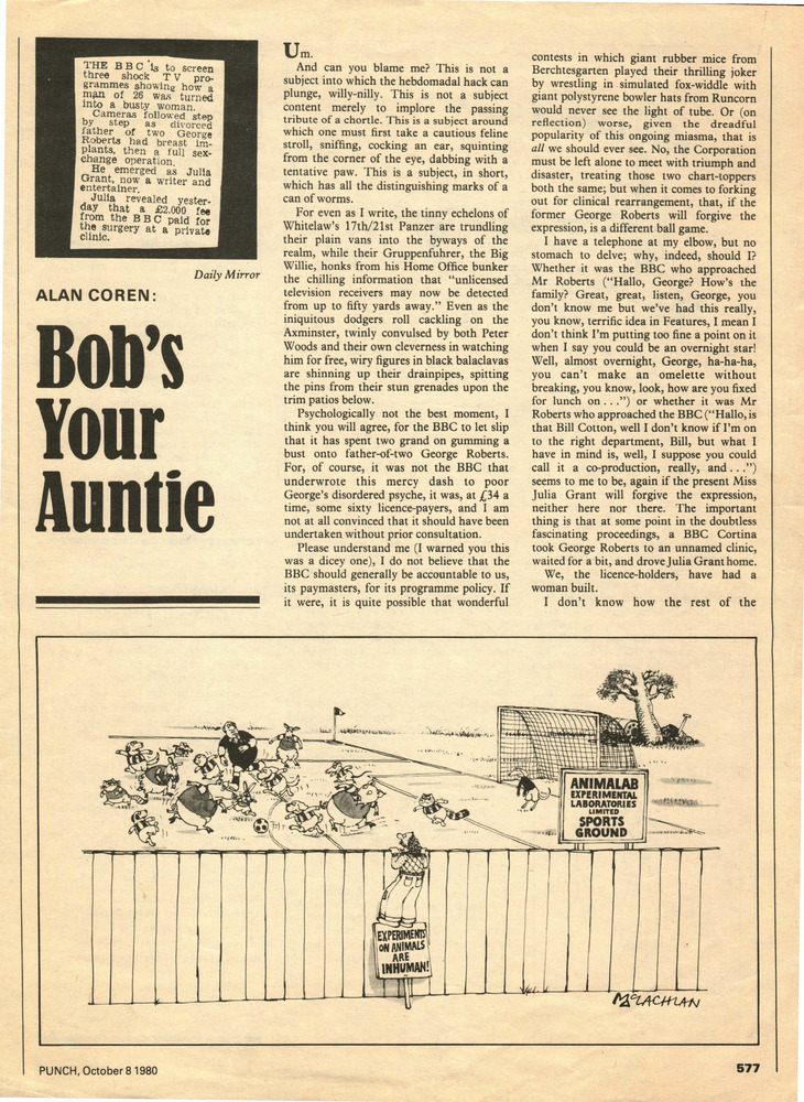 Download the full-sized PDF of Bob's Your Auntie