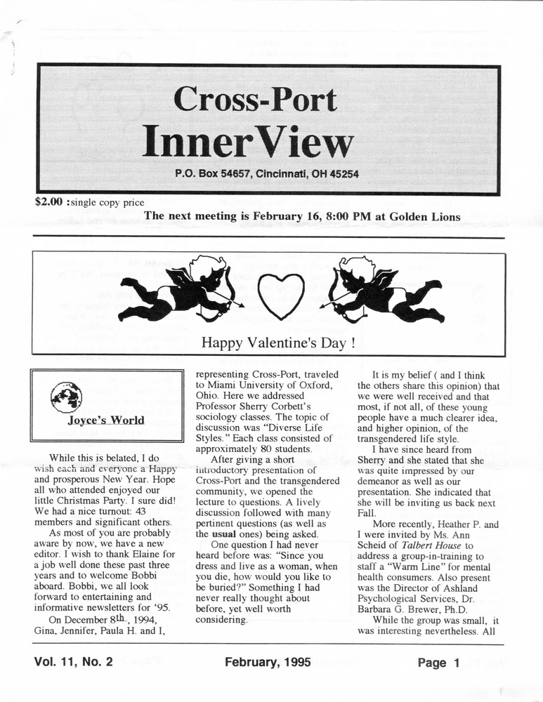 Download the full-sized PDF of Cross-Port InnerView, Vol. 11 No. 2 (February, 1995)