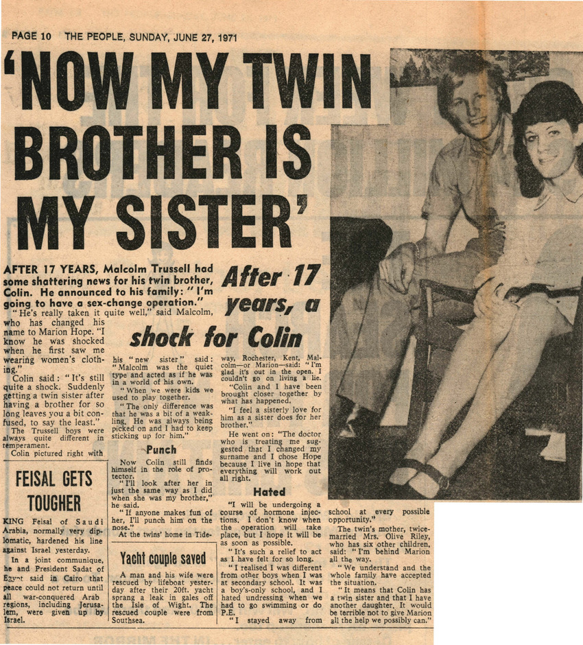 Download the full-sized PDF of Now My Twin Brother is My Sister
