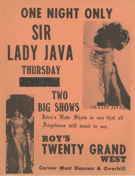 Download the full-sized image of One Night Only Sir Lady Java