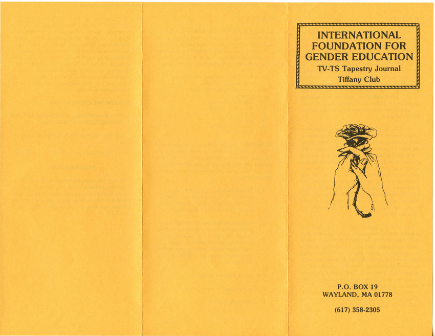 Download the full-sized PDF of International Foundation for Gender Educational TV-TS Tapestry Journal Tiffany Club