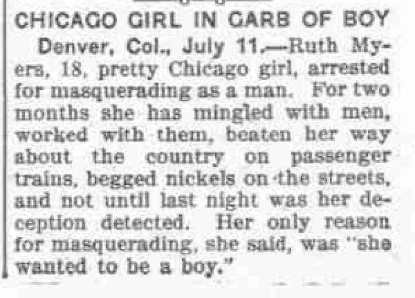Download the full-sized PDF of Chicago Girl in Garb of Boy
