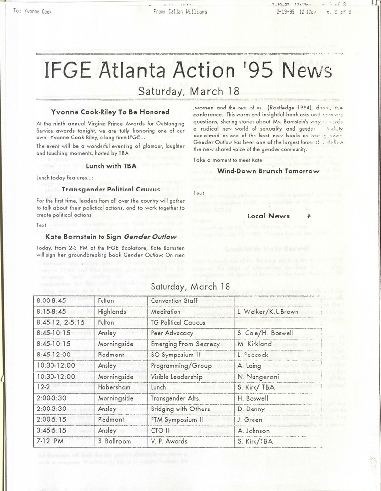 Download the full-sized PDF of IFGE Atlanta Action '95 News