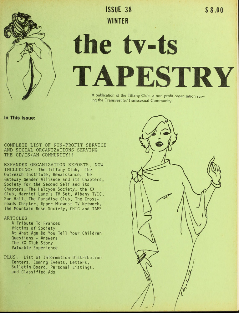 Download the full-sized image of The TV-TS Tapestry Issue 38 (Winter, 1982-1983)