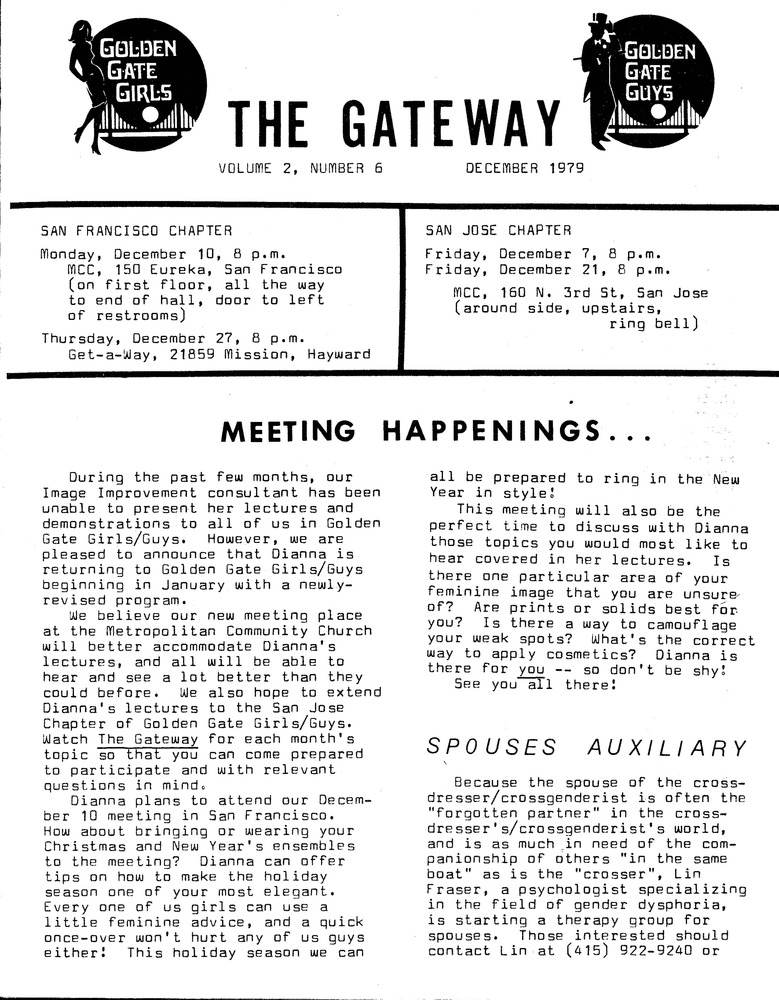 Download the full-sized PDF of The Gateway Vol. 2 No. 6 (December, 1979)
