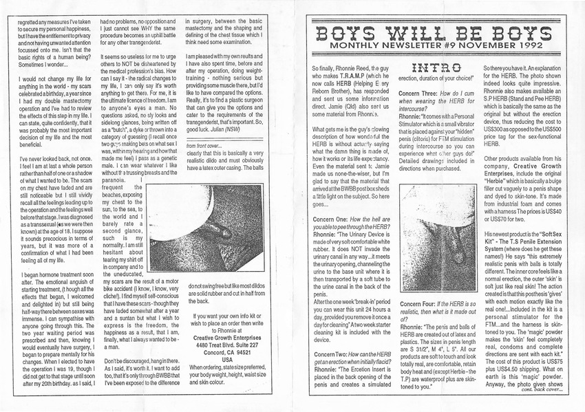 Download the full-sized PDF of Boys Will Be Boys, No. 9 (November, 1992)