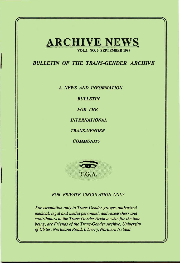 Download the full-sized PDF of Archive News, Vol. 1 No. 3 (September, 1989)