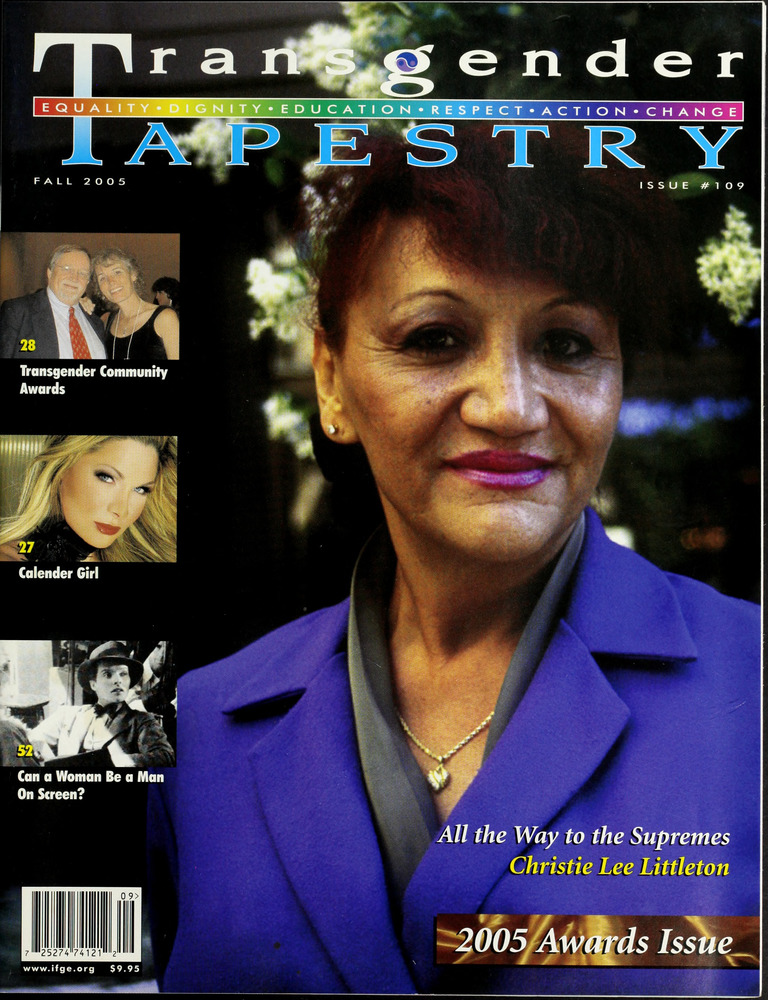 Download the full-sized image of Transgender Tapestry Issue 109 (Fall, 2005)