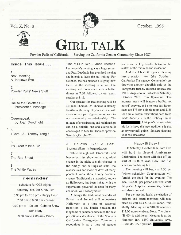 Download the full-sized PDF of Girl Talk, Vol. 10 No. 8 (October, 1995)