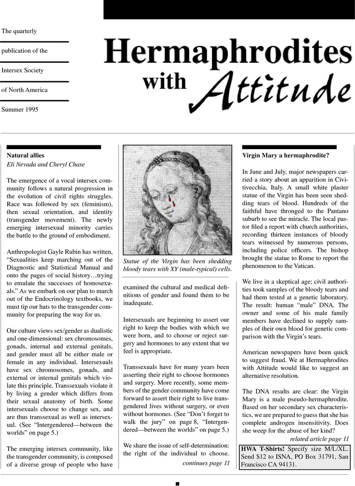 Download the full-sized PDF of Hermaphrodites with Attitude  (Summer, 1995)