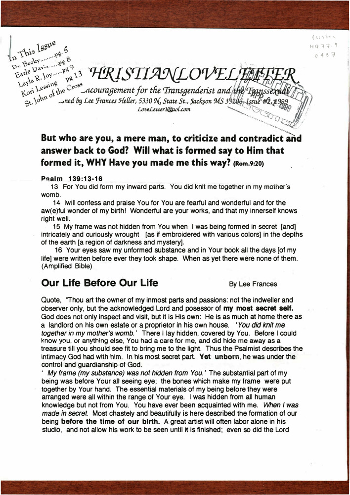 Download the full-sized PDF of Christian Love Letter