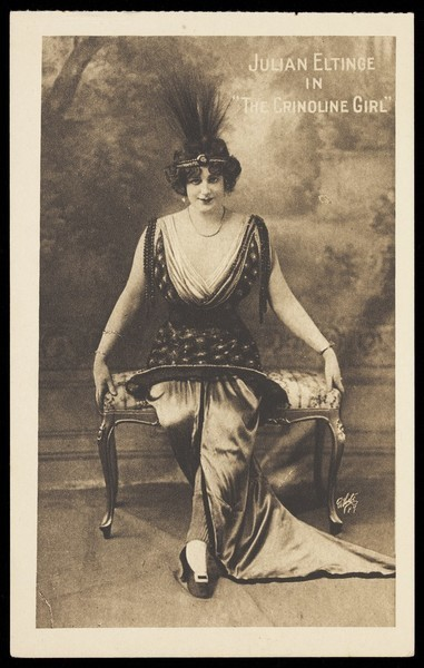 Download the full-sized image of Julian Eltinge in drag. Process print, ca. 1916.