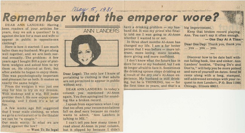 Download the full-sized PDF of Remember What the Emperor Wore? (May 5, 1981)