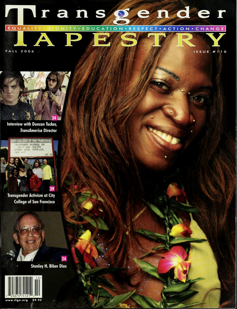 Download the full-sized image of Transgender Tapestry Issue 110 (Fall, 2006)
