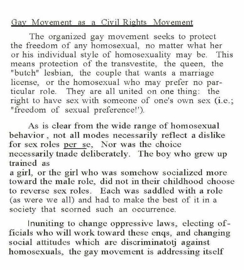 Download the full-sized image of Gay Movement as a Civil Rights Movement