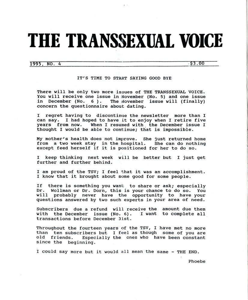 Download the full-sized PDF of The Transsexual Voice No. 4 (1995)