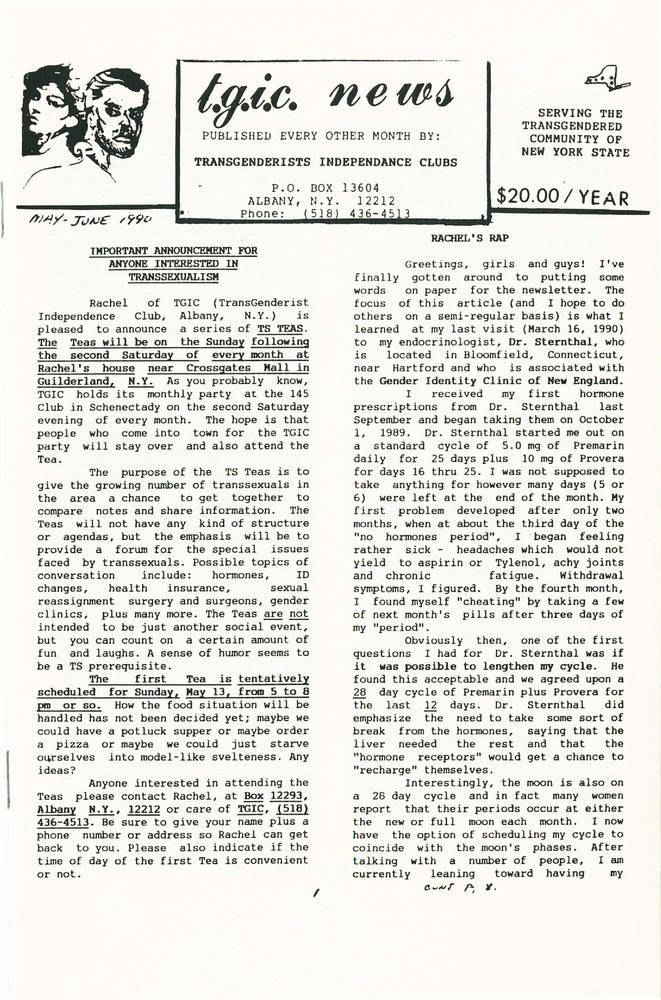 Download the full-sized PDF of TGIC News (May-June, 1990)