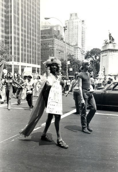 Download the full-sized image of Marsha P. Johnson and Sylvia Rivera at the Pride March, 1973