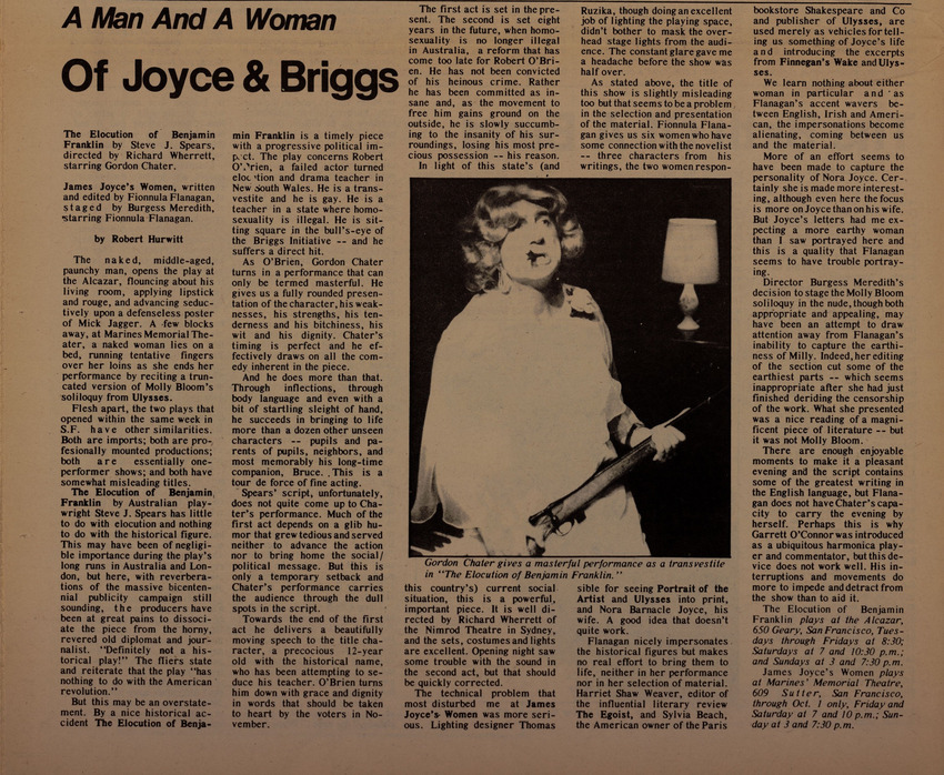 Download the full-sized image of A Man and a Woman of Joyce & Briggs