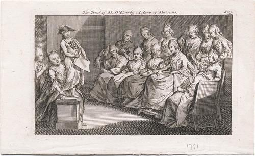 Download the full-sized image of The trial of M. d'Eon by a jury of matrons