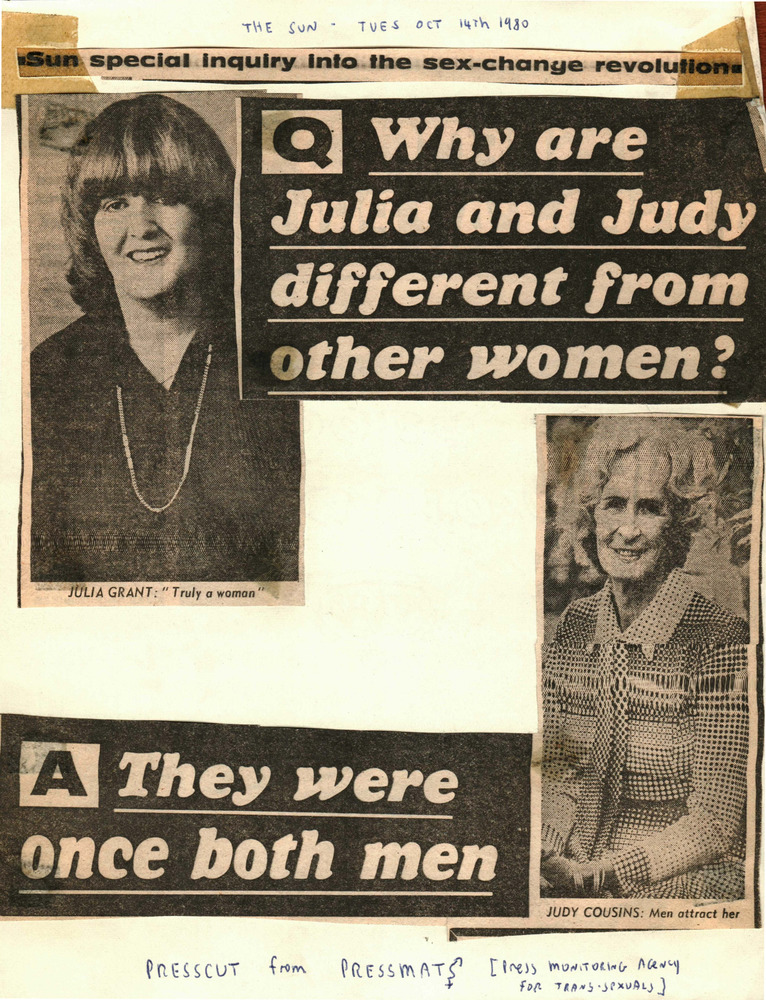 Download the full-sized PDF of Why are Julia and Judy different from other women?