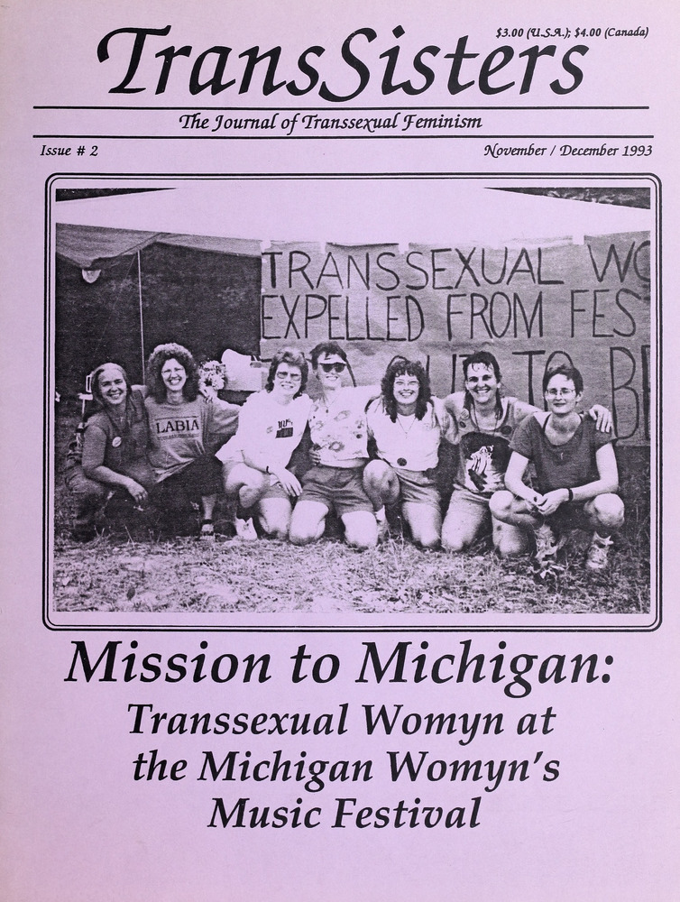 Download the full-sized image of TransSisters: The Journal of Transsexual Feminism No. 2 (Nov.-Dec. 1993)