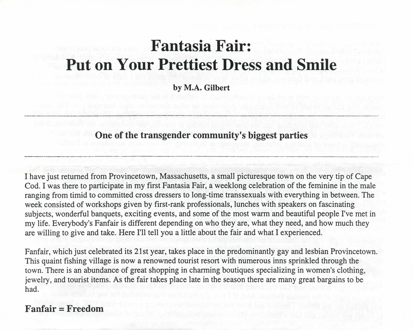 Download the full-sized PDF of Fantasia Fair: Put on Your Prettiest Dress and Smile