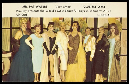 Download the full-sized image of Men in drag at Club My-O-My, New Orleans. Colour process print, 195-.