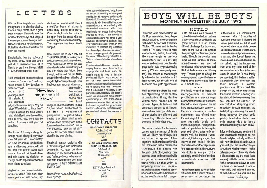 Download the full-sized PDF of Boys Will Be Boys, No. 5 (July, 1992)