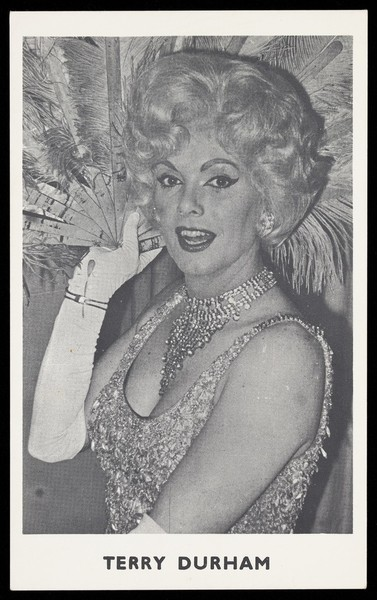 Download the full-sized image of Terry Durham in drag. Photograph, 196-.