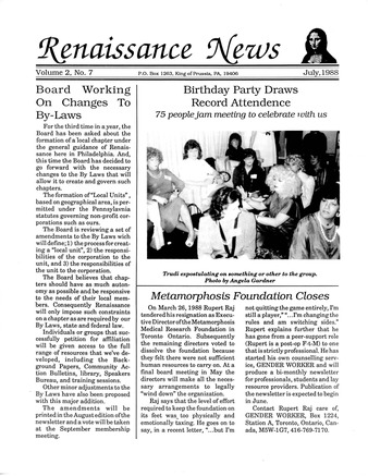 Download the full-sized PDF of Renaissance News, Vol. 2 No. 7 (July 1988)
