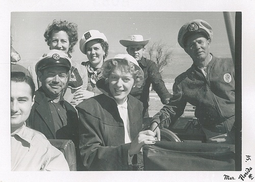 Download the full-sized image of Christine Jorgensen with Six Other People on a Boat