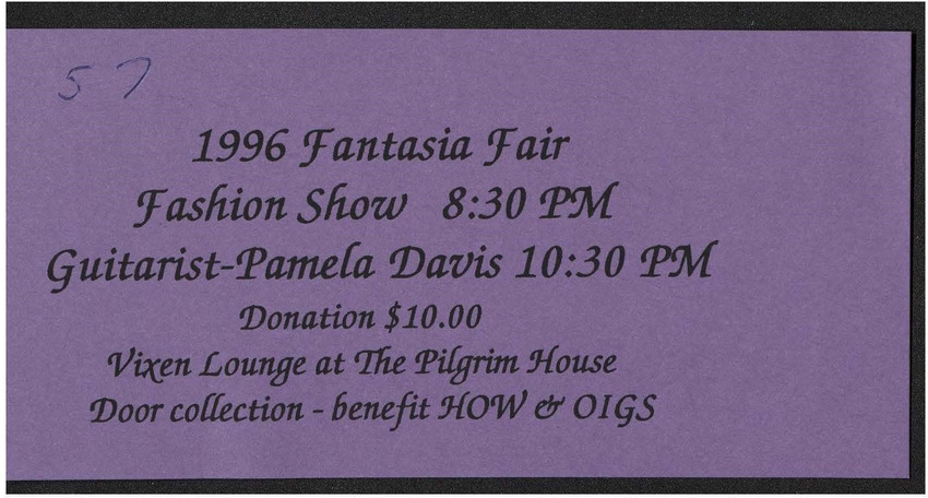 Download the full-sized PDF of 1996 Fantasia Fair Fashion Show Ticket