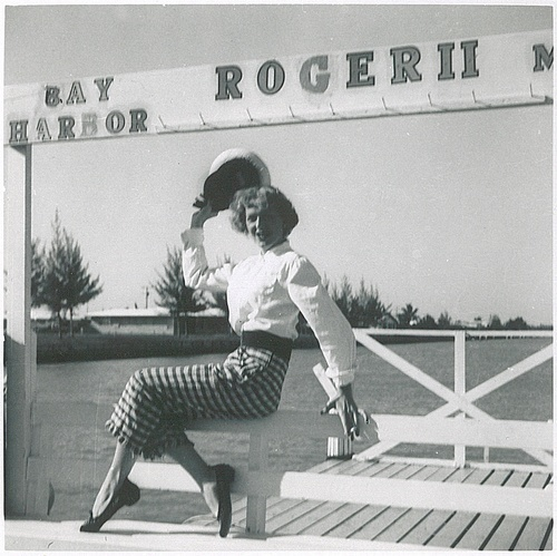 Download the full-sized image of Christine Jorgensen Striking a Pose on the Dock