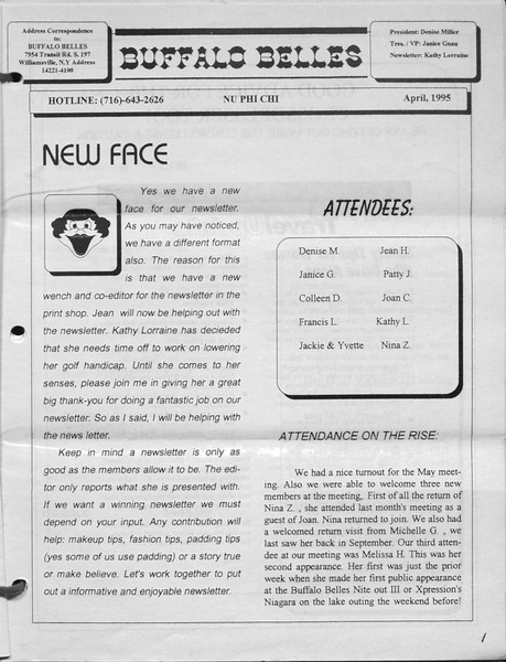 Download the full-sized image of Buffalo Belles Vol. 4 No. 4 (April, 1995(2))