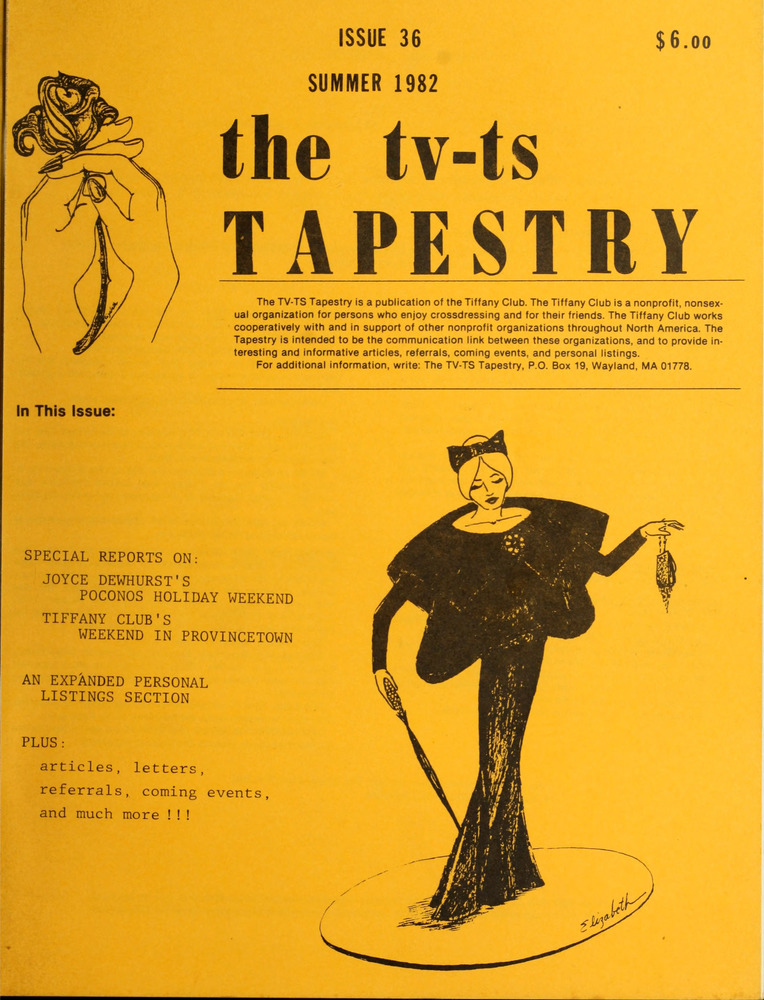 Download the full-sized image of The TV-TS Tapestry Issue 36 (Summer, 1982)