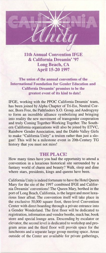 Download the full-sized PDF of California Unity: 11th Annual Convention IFGE & California Dreamin' '97