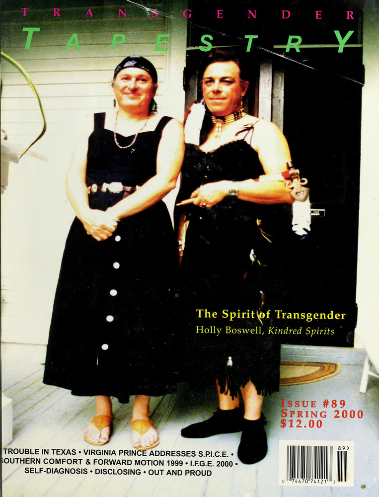 Download the full-sized image of Transgender Tapestry Issue 89 (Spring, 2000)