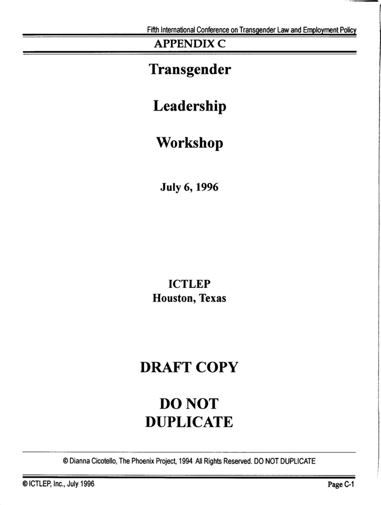 Download the full-sized PDF of Appendix C: Transgender Leadership Workshop